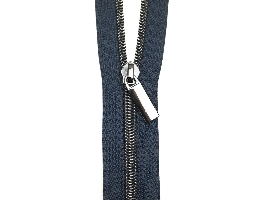 Zipper Tape Navy Gunmetal