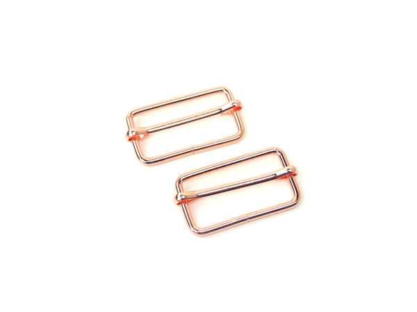Slider Buckles Rode Gold 1 1/2in