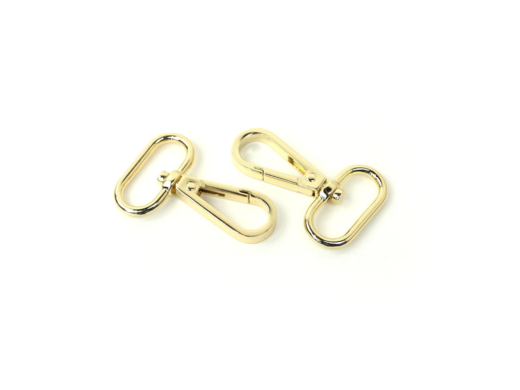 Swivel Clasps Gold 1in