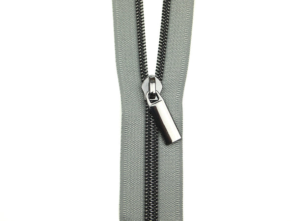Zipper Tape Grey Gunmetal