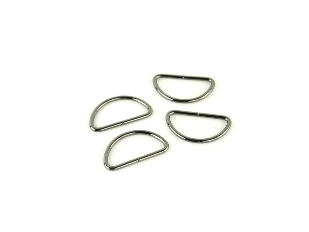 Gunmetal D-rings 1 1/2in