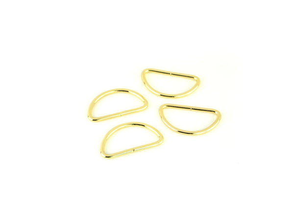 Gold D-rings 1 1/2in