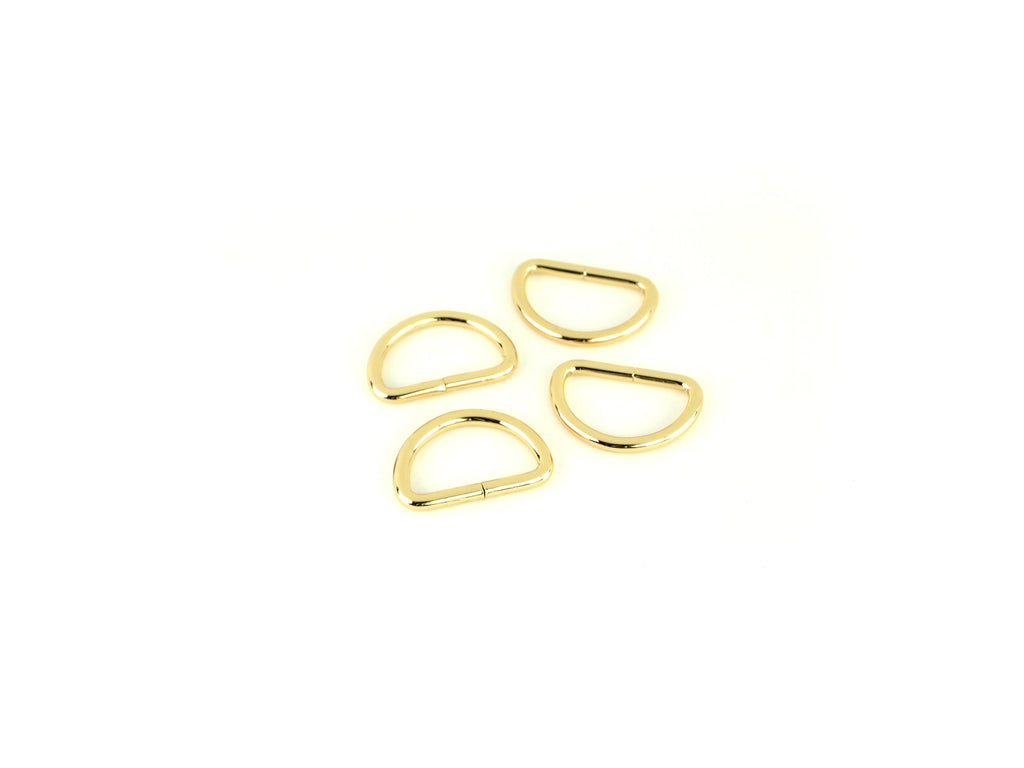 Gold D-rings 1in