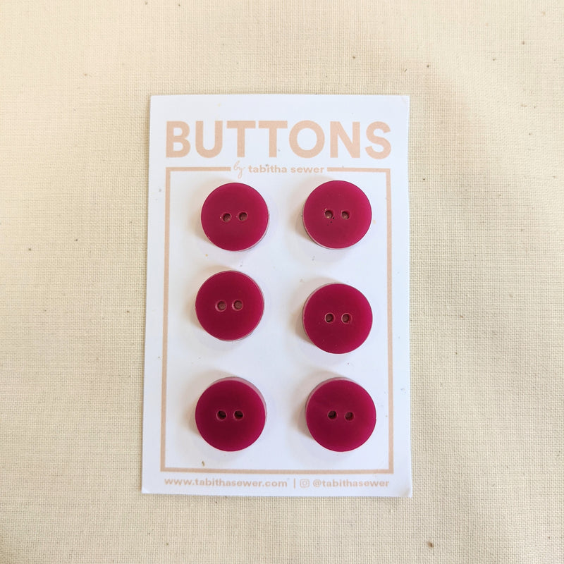 Raspberry Classic Circle Buttons .59""