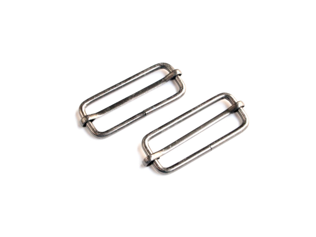 Slider Buckles Gunmetal 1 1/2in