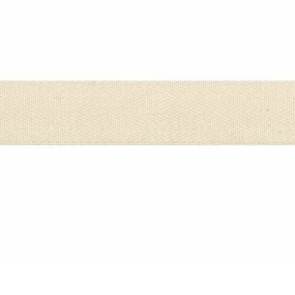 "3/4"" Twill Tape Natural - One Yard Length"