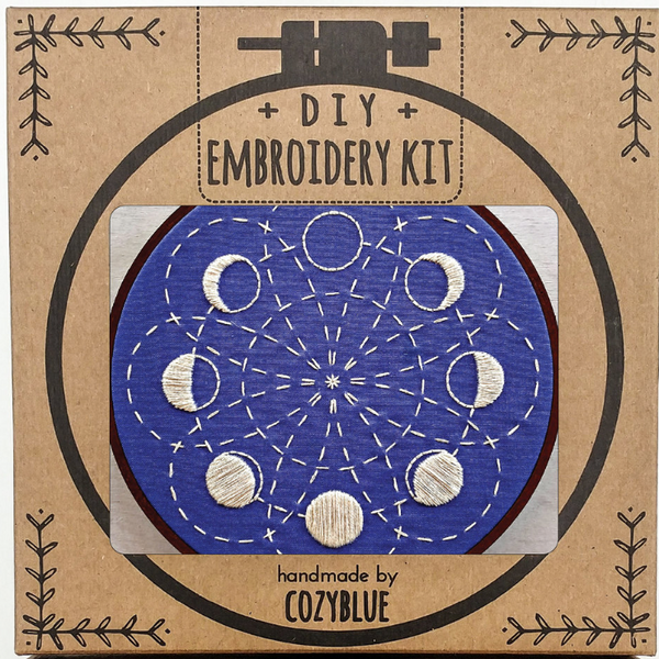 Embroidery Kit: Moon Phases