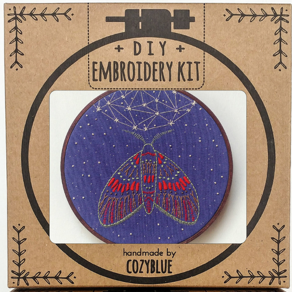 Embroidery Kit: Midnight Flight