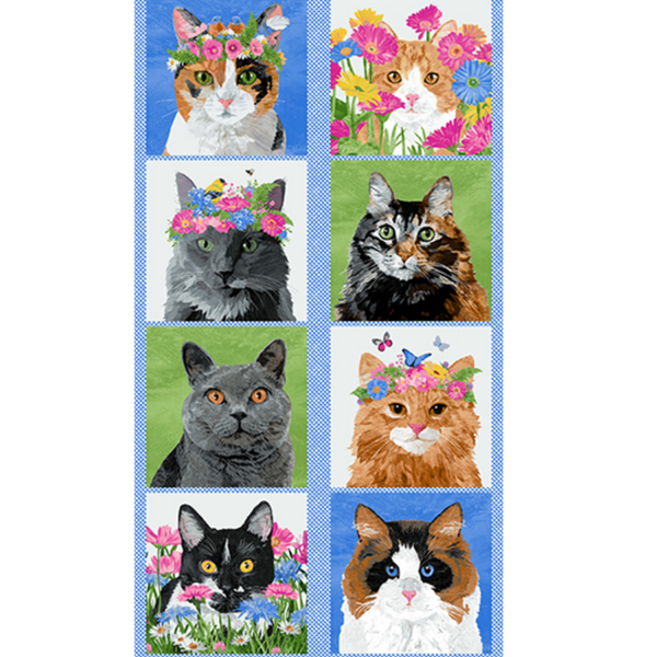 Cat Panel : Meow Meadow Collection