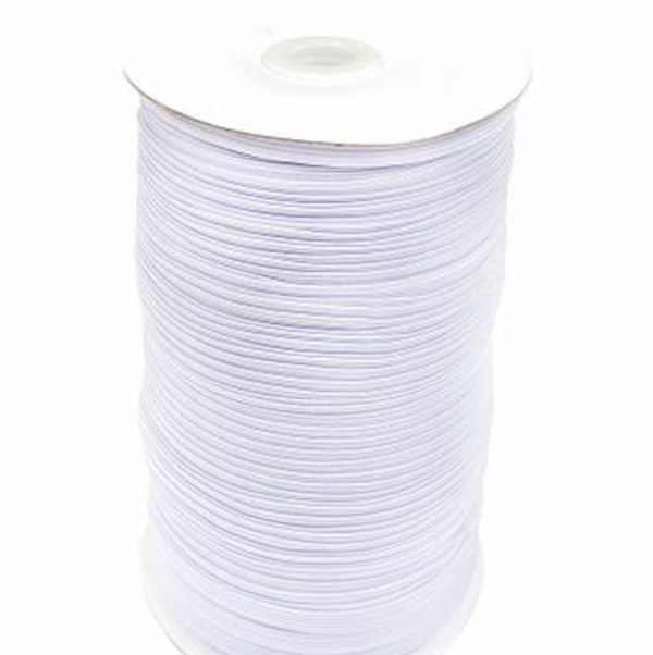 White Elastic 5 mm (3/16 inch)- 218 Yards