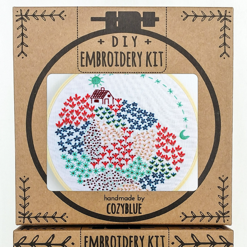 Embroidery Kit: Close To Home