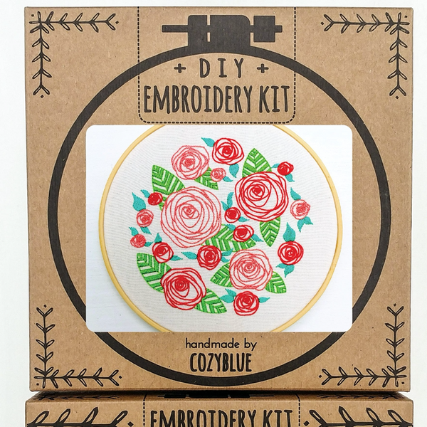 Embroidery Kit: Coming Up Roses