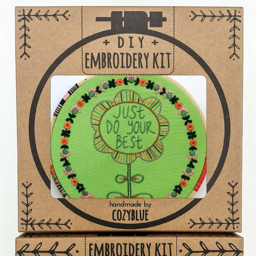 Embroidery Kit: Just Do Your Best
