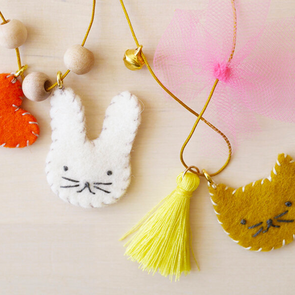 Animal FELT CHARM NECKLACES