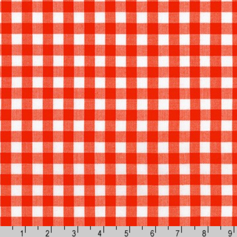 Kitchen Window Wovens: Flame Gingham
