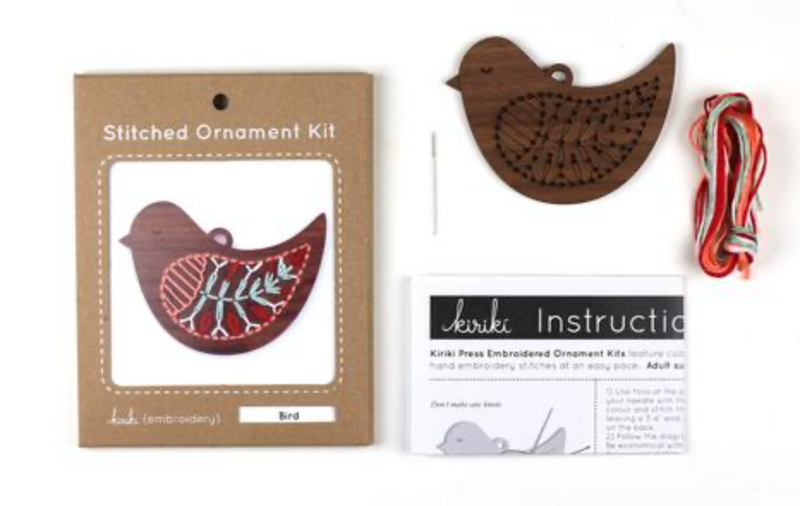 Bird - DIY Stitched Ornament Kit
