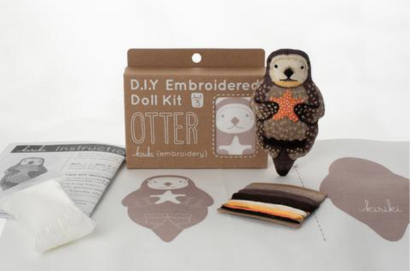 Otter Embroidery Kit