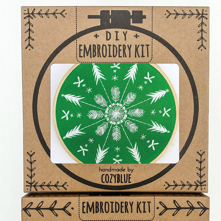 Embroidery Kit: Evergreen