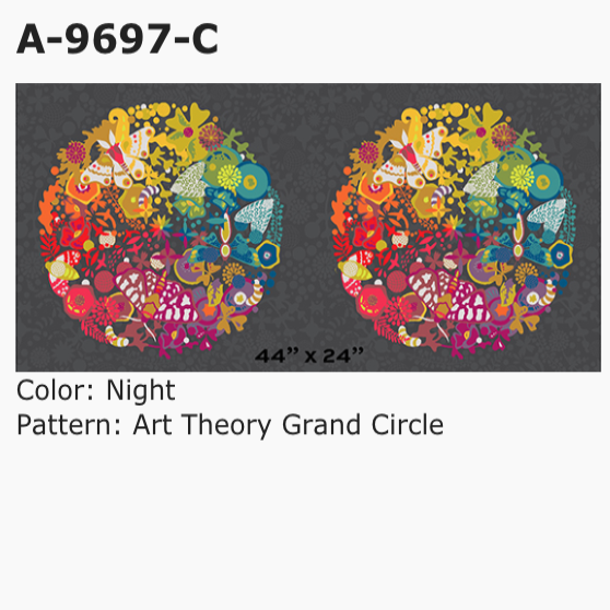 Art Theory: Grand Circle in Night - 24 inch repeat