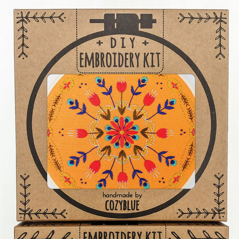 Embroidery Kit: Tangerine Mandala