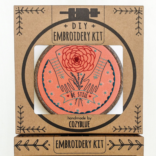 Embroidery Kit: Be Still