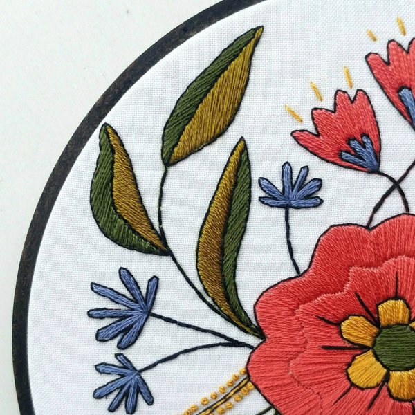 Embroidery Kit: April Flowers