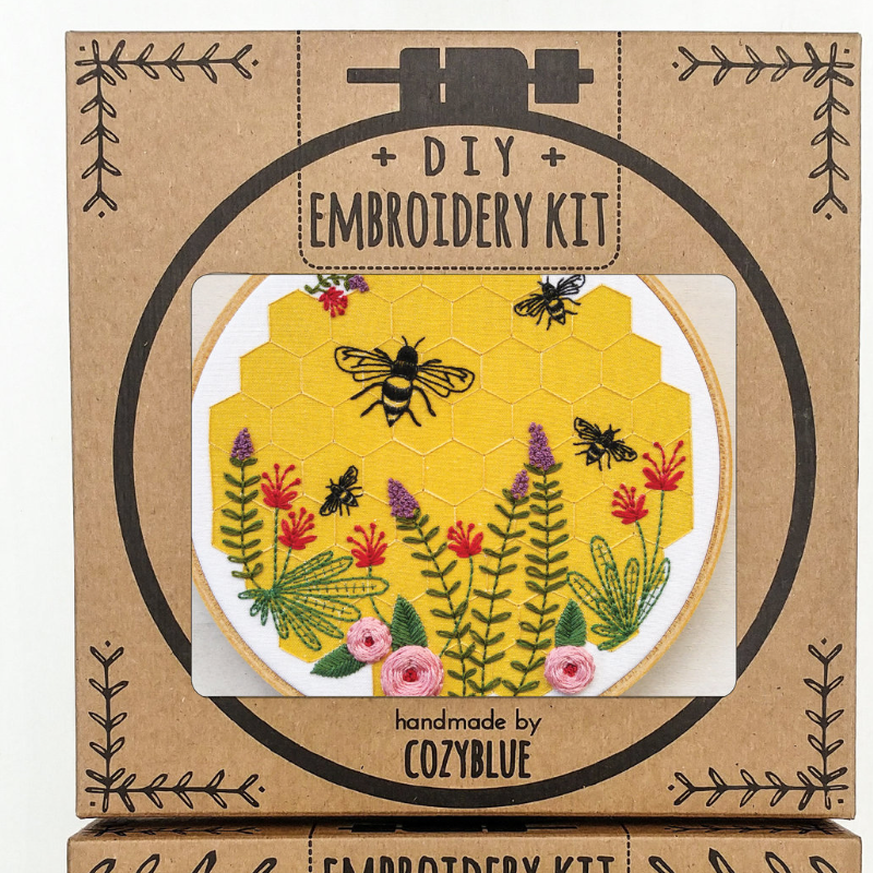 Embroidery Kit: Bee Lovely