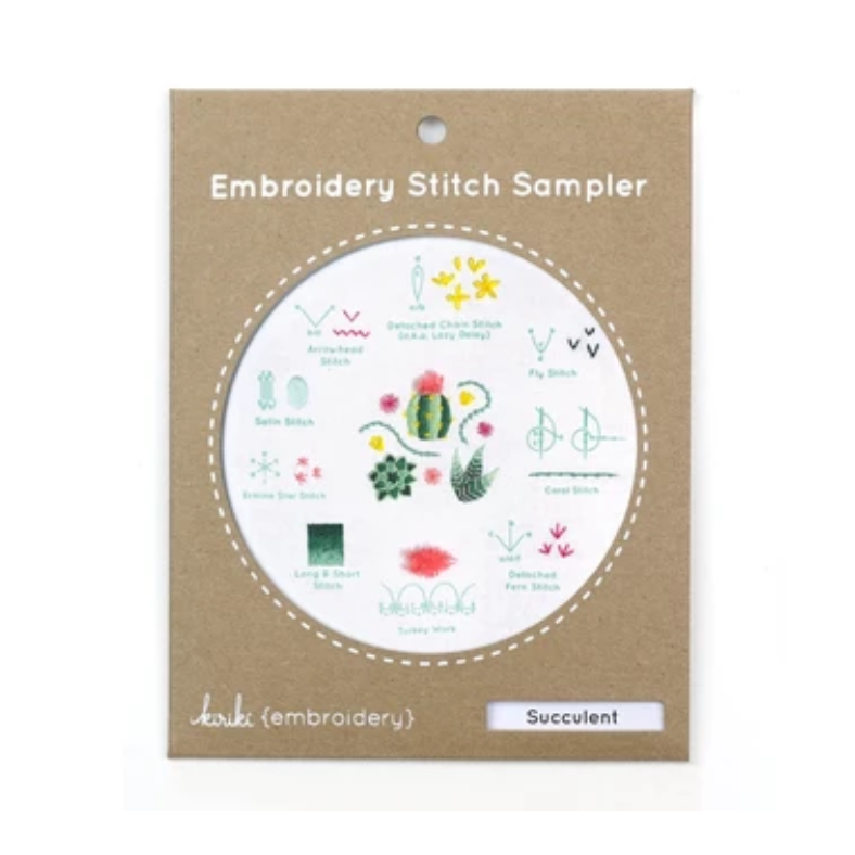 Succulent - Embroidery Stitch Sampler