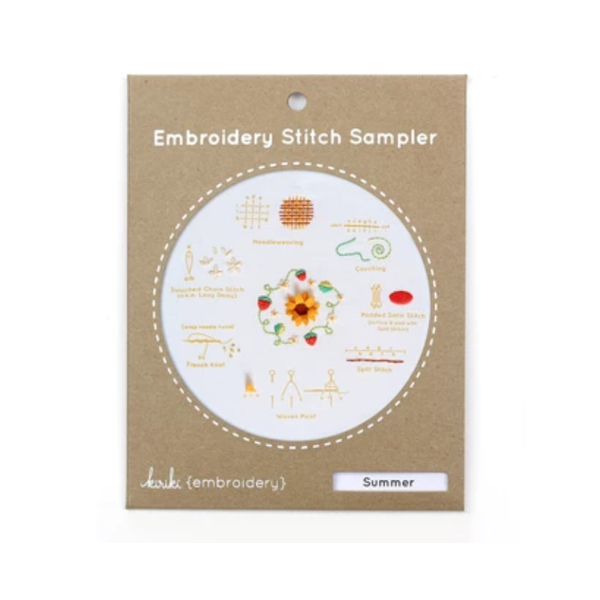 Summer Embroidery Stitch Sampler