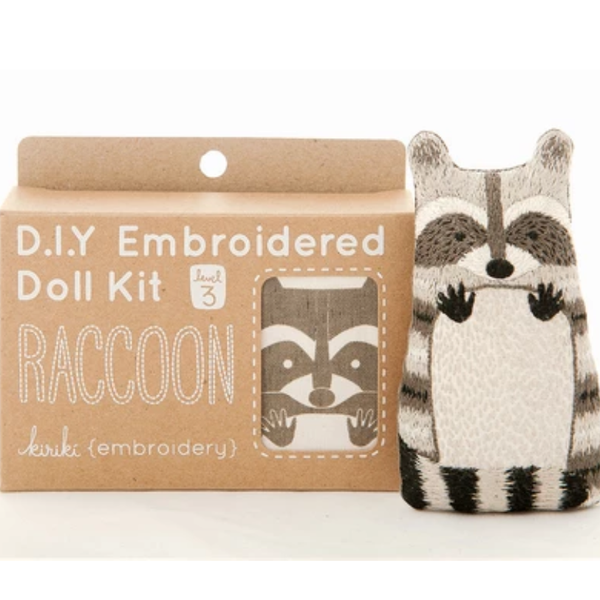 Raccoon Embroidery Kit