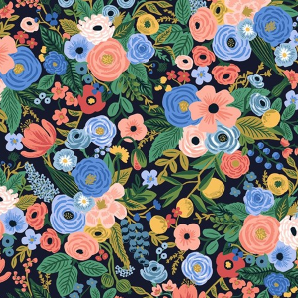 Wildwood - Garden Party - Navy Fabric
