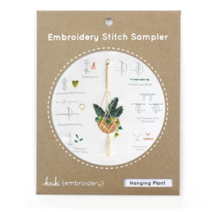Embroidery Stitch Sampler: Hanging Plant