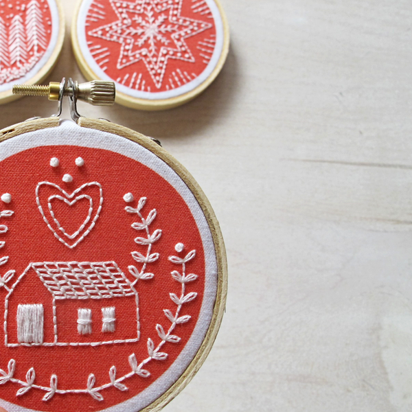 Embroidery Kit: Holiday Ornaments
