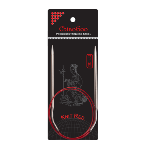 "Chiaogoo Red Circular Needles 16"" Multiple Sizes"