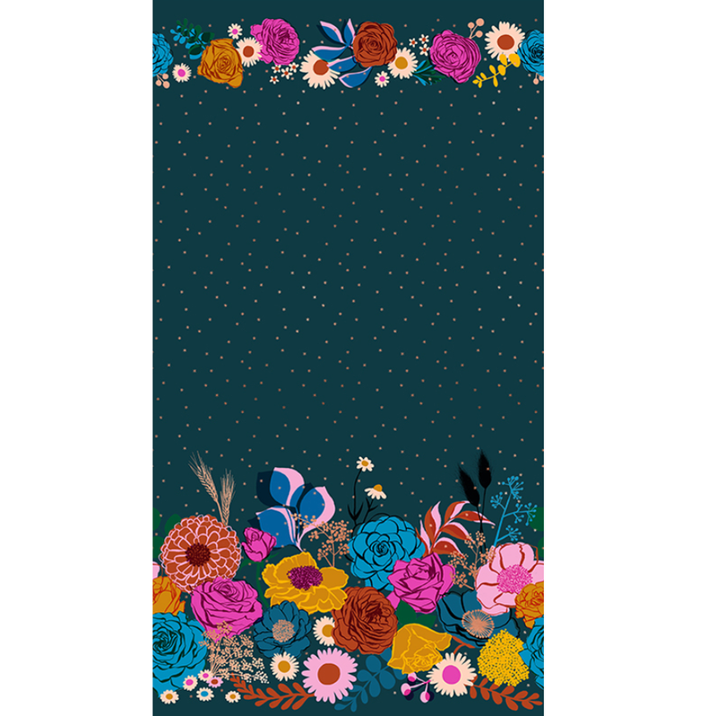 Rise: Shine Double Border in Peacock