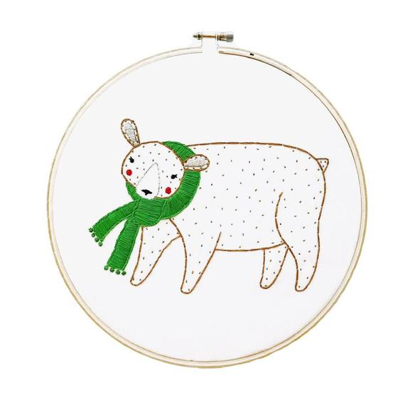 Gingiber Bear Embroidery Sampler