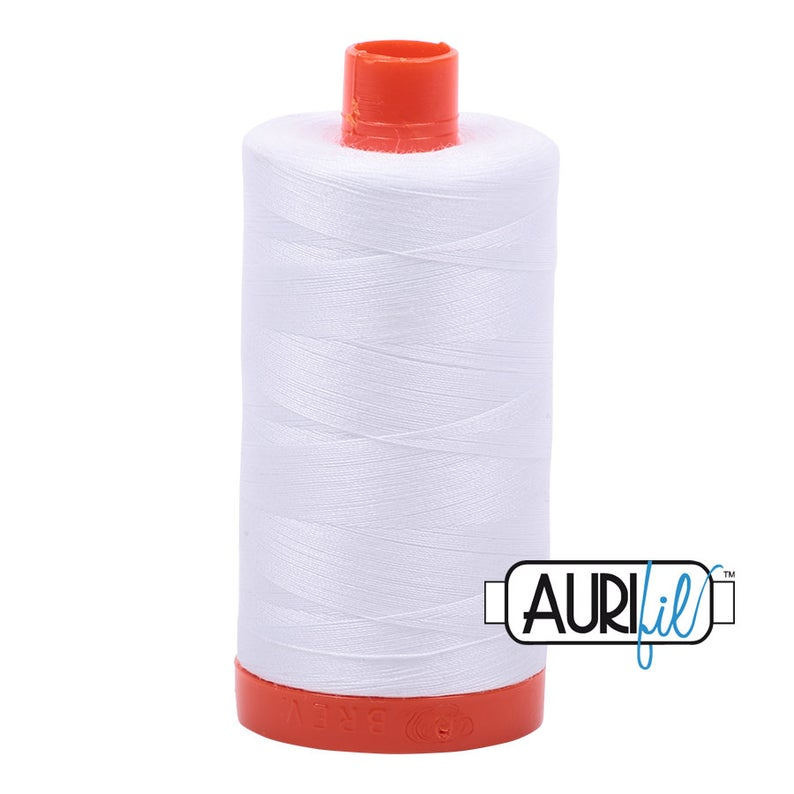 Aurifil Cotton 50 WT - 2024 - White