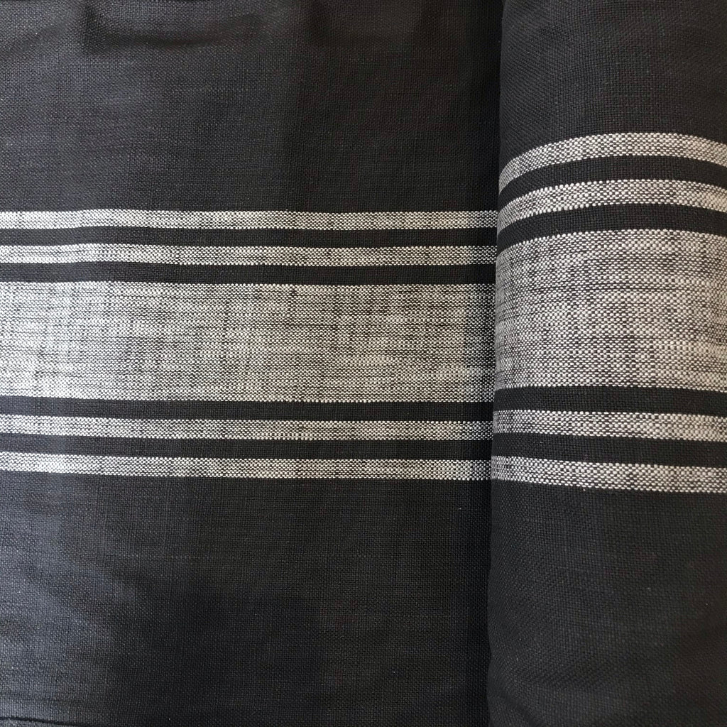 Black and Light Grey Stripe