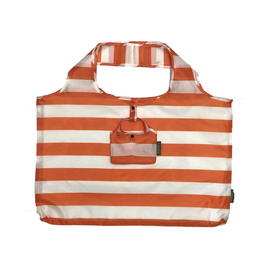 Orange Stripe Meori Pocket Shopper