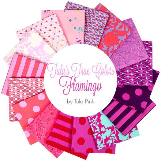 Tula's True Colors: Flamingo Fat Quarter Bundle