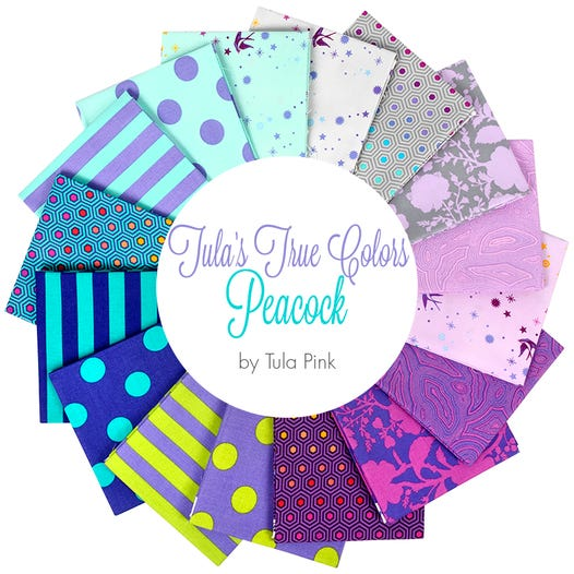 Tula's True Colors: Peacock Fat Quarter Bundle