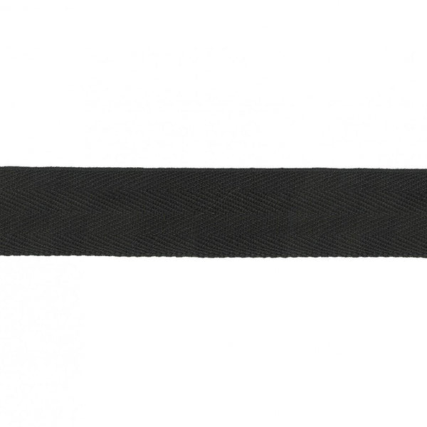 1 Inch Twill Tape Black - One Yard Length