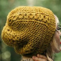 Honey Study Hat - Printed Pattern by Drea Renee Knits