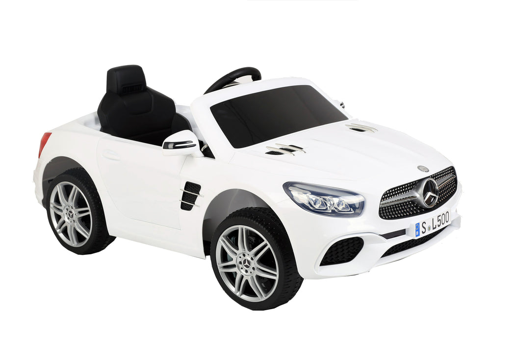 12V 7A Mercedes Benz Licenced SL500 Battery Powered Kids Electric Ride On Toy Car S301 WHITE