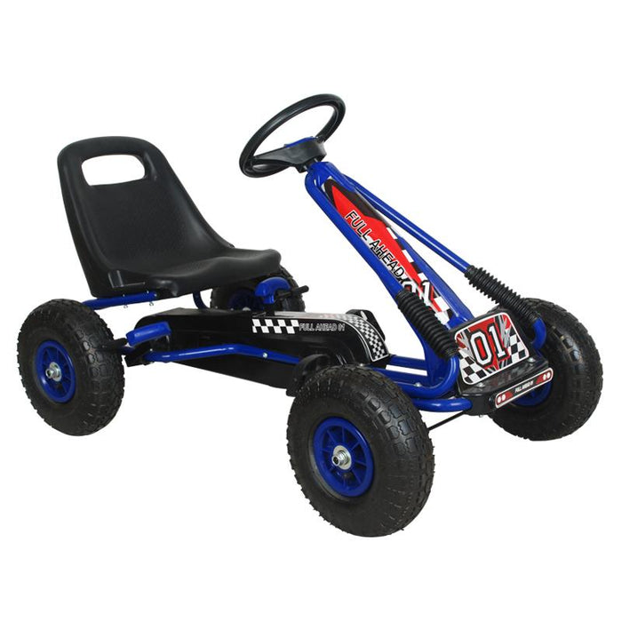 Kids Go Kart with Foot Pedal AIR Wheels Brake Lever Clutch Gear (MODEL A15) RED, BLUE AND GREEN