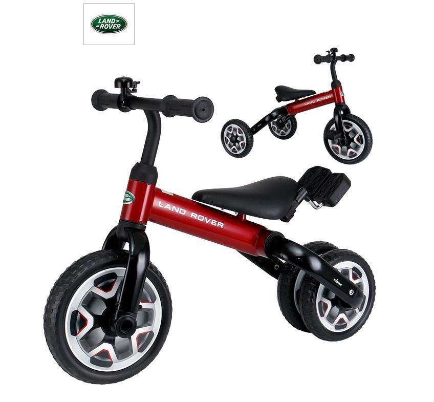 2-in-1 Foldable Land Rover Licensed Carbon Steel Balance Bike Trike RSZ3005