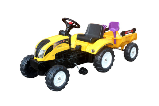 Foot Pedal Tractor Ride On with Trailer and Tools ( Model: B1001) Yellow
