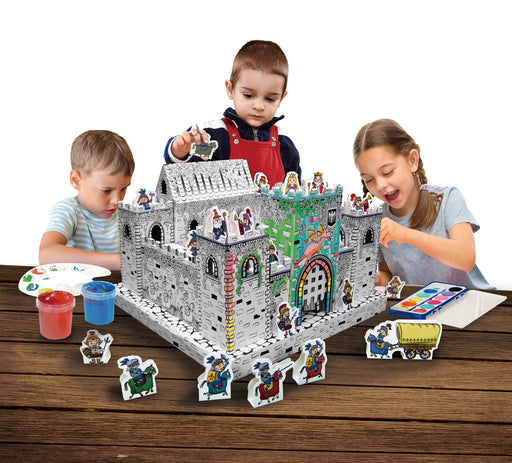 Ricco Kids 3D Cardboard Craft Colouring Mini Playhouse (Mini Castle)