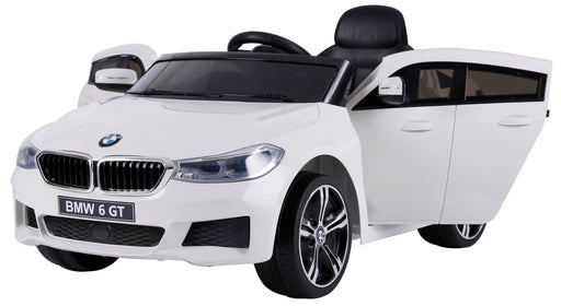 BMW 6 GT Lisenced TWO MOTORS Battery Powered Kids Electric Ride On Toy Car (Model: JJ2164) WHITE - GADGET EXPRESS®
