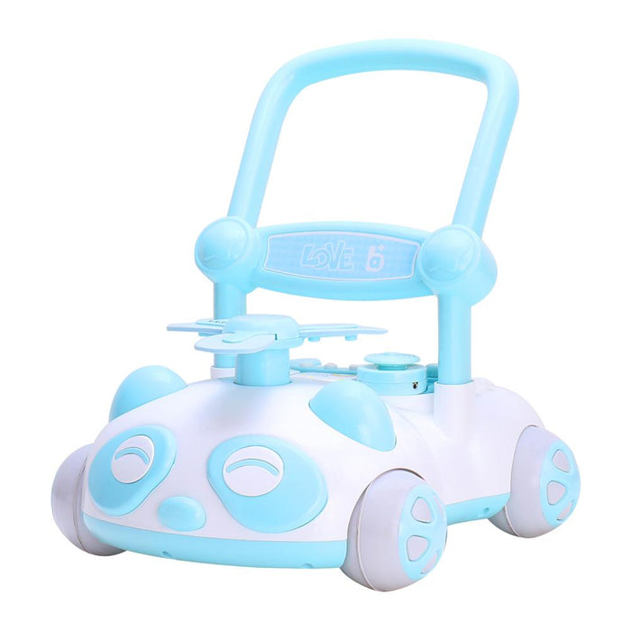 RICCO Baby Sit to Stand Push Along Walker with Music and LED lights and for 1+ Year Olds  ( Model ZX7659) BLUE - GADGET EXPRESS®